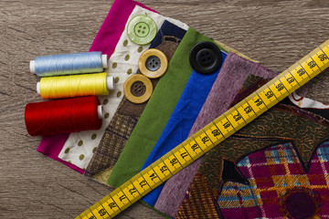 sewing equipment and materials