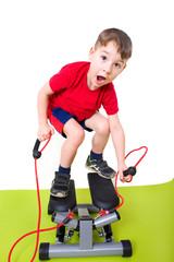 Kleinkind macht Sport