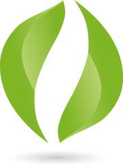 Logo, Blätter, Pflanze, Bio