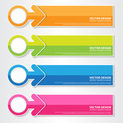 Colorful Modern Banner, Vector Work