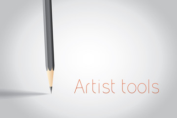 Pencil with place for text vector background