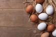 Eier auf Stroh - 76475468
