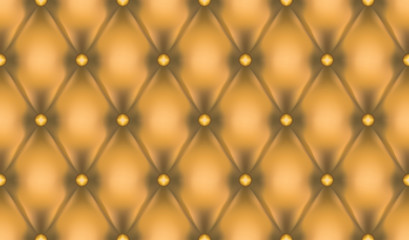 Gold luxury quiltn vector seamless pattern