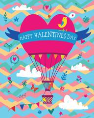 Valentines card baloon