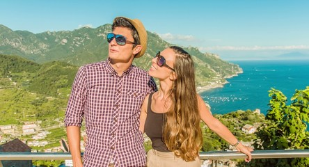 Beautiful Young Couple Romantic Getaway Vacation Holiday Beach