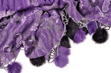 high detail background and cloth textures purple scarf  .