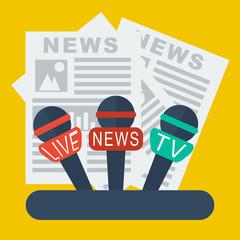 live report, live news concept