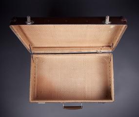 Shot Of Worn Old Suitcase
