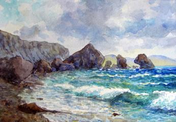 Скалы у берега.
