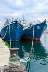 Fishing ships in the port of Pula, Istria, Croatia