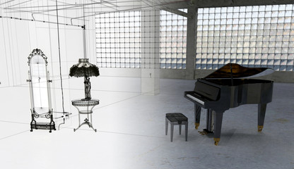 Grundge Musica in edificio industriale abbandonato