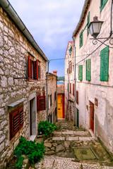 Fototapeta uliczka stare miasto Chorwacja