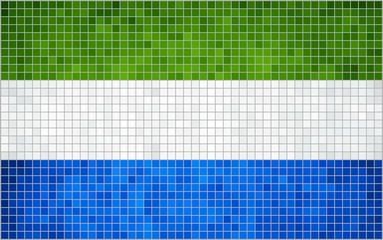 Abstract Mosaic Flag of Sierra Leone