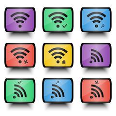 Wireless Icons Set