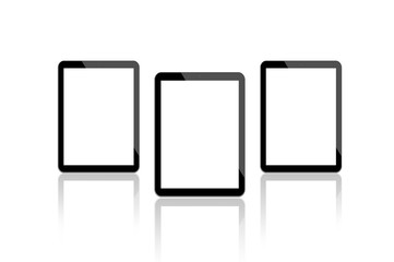 3 Digital Tablets - Glossy - Isolated