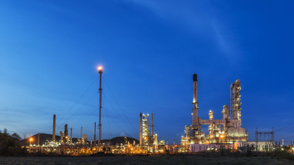 Big Industrial oil tanks in a refinery