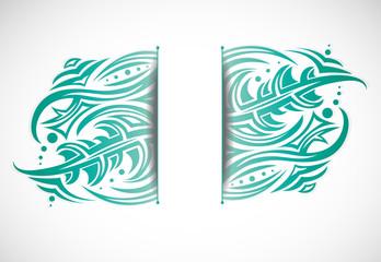 Abstract shape. Illustration 10 version