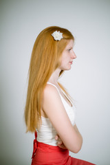 real teenage red-haired girl