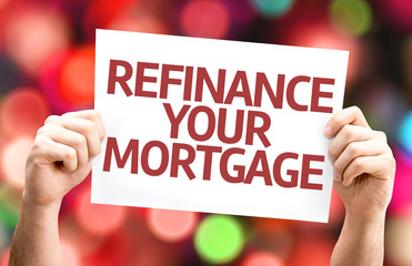 Refinance Your Mortgage card with colorful background