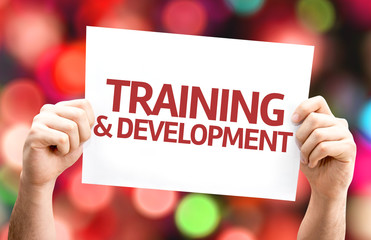 Training & Development card with colorful background