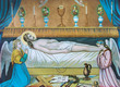 Jesus Christ in the tomb - old printed image