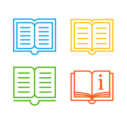 Colorful book icons