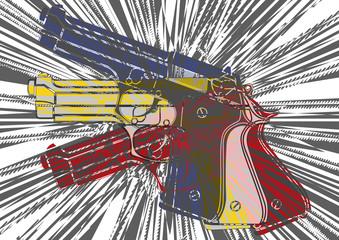 Pistolet art grunge