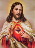 Typical catholic image of heart of Jesus Christ - 76480483