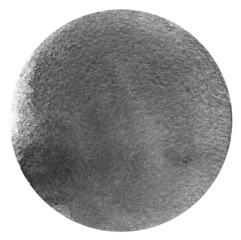 Monochrome grey circle watercolor isolated