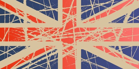 Weathered Flag of UK