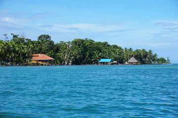 Coast of Carenero island in Bocas del Toro Panama