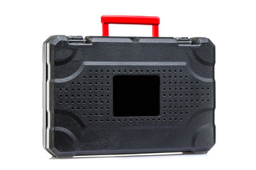 suitcase for instruments on a white background