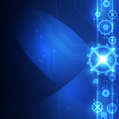 abstract technology concept background, vector