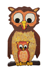 Eulenmutter und Kind - selbstgemachtes Holzpuzzle für Kinder