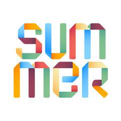 Summer 3d text design template.