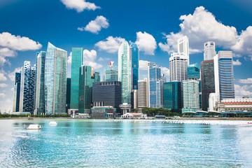 Beautiful landscape of Singapore city