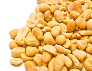 heap of roasted peanuts