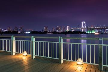 Night View of Rainbow Bridge