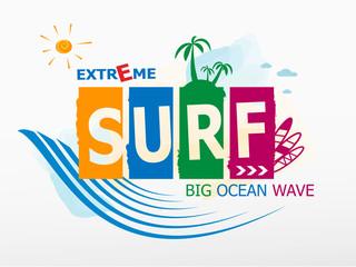 Surf Rider text design.