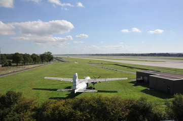 Panoramic View of the Runway at London Gatwick from Echo