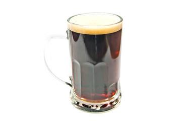 glass of dark beer closeup