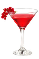 cocktail with red currant
