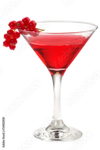 cocktail with red currant - 76482808