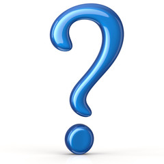 Blue question mark sign