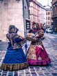 two girls in the historic center of Lviv