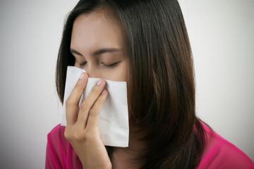 Flu cold or allergy symptom