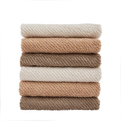 Stack of towels. Isolated