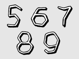 56789 irregular numbers or digits