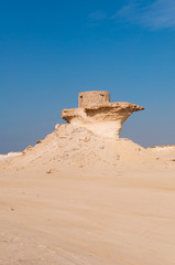 Old Fort in the Zekreet desert of Qatar, Middle East