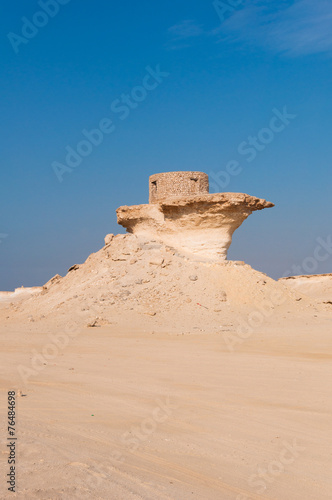 Poster Old Fort in the Zekreet desert of Qatar, Middle East